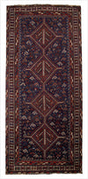 Vintage Persian Shiraz Rug - 4.3 x 9.8 feet - pillowmehome