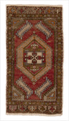 Vintage Small Turkish Rug - 1.5 x 2.9 feet - pillowmehome