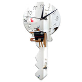 Silver Key Mirror Wall Clock