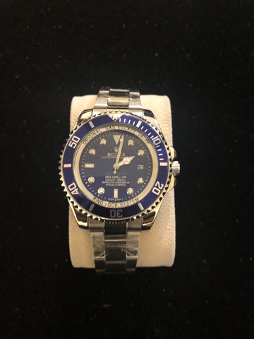 New Silver Blue Dees Sea Rolex AAA