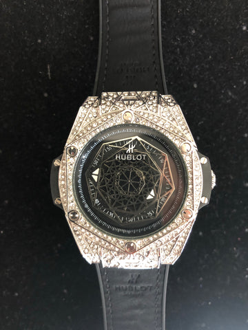 New Hublot Silver Iced Out AAA