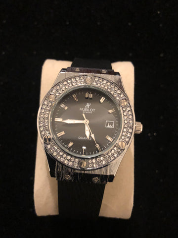 New Silver Black Diamonds Hublot Watch AA