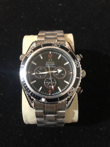 New Omega Sea master Auto Silver Black AAA