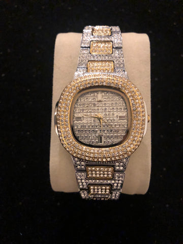 New All Diamonds Two Tone Watch
