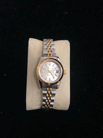 New Women Rolex Silver Gold