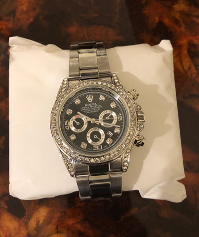 New Silver Diamonds Rolex AAA