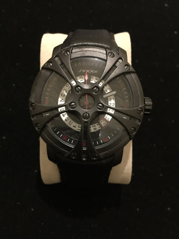 New Black Skeleton Web Watch