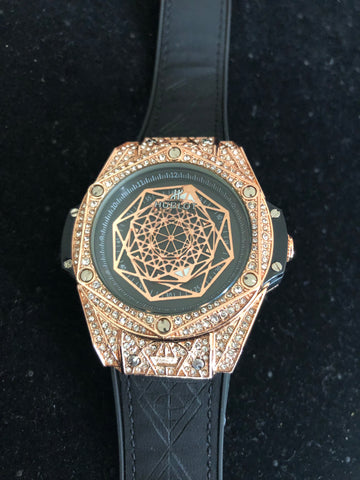 New Hublot Gold Iced Out AAA