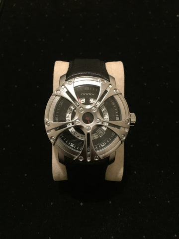 New Silver Skeleton Watch