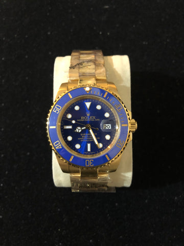 New Rolex Sub Blue Gold Automatic AAA+