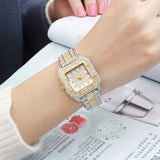 New Full Of Diamonds Women Fashion Watch Square Carter Women Watches Ladies Wrist Watches Waterproof  Quartz montre femme