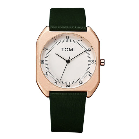 TOMI Fashion Casual Men Retro Design Leather Band Watch