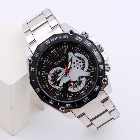 Luxury Men's Fashion Sport Stainless Steel Quartz Analog Wrist Watch
