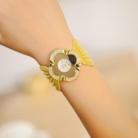 Lady Diamond Bracelet Watch Mirror Luxury Quartz Watch