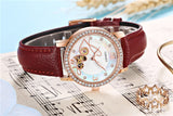 Women wtches mechanical watch leather ladies simple fashion casual Automatic clock relogio femininos gift Reloj Mujer