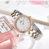 New 2018 Top Women Luxury Brand Fashion Lady Quartz Watch Gifts For Girl Full Stainless Steel Rhinestone waterproof watches