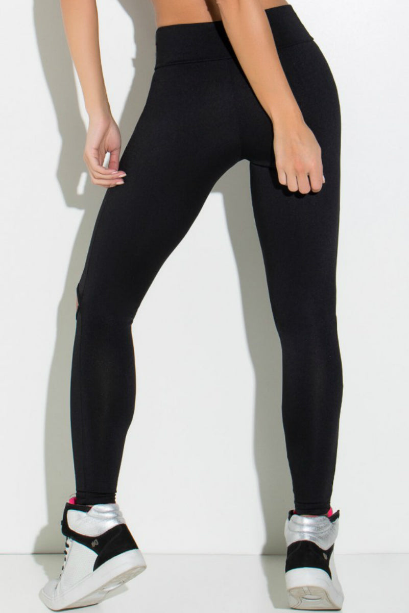 BLACK CUTOUT LEGGING