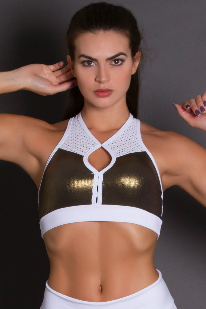 GOLD REVOLUTION WHITE BRA