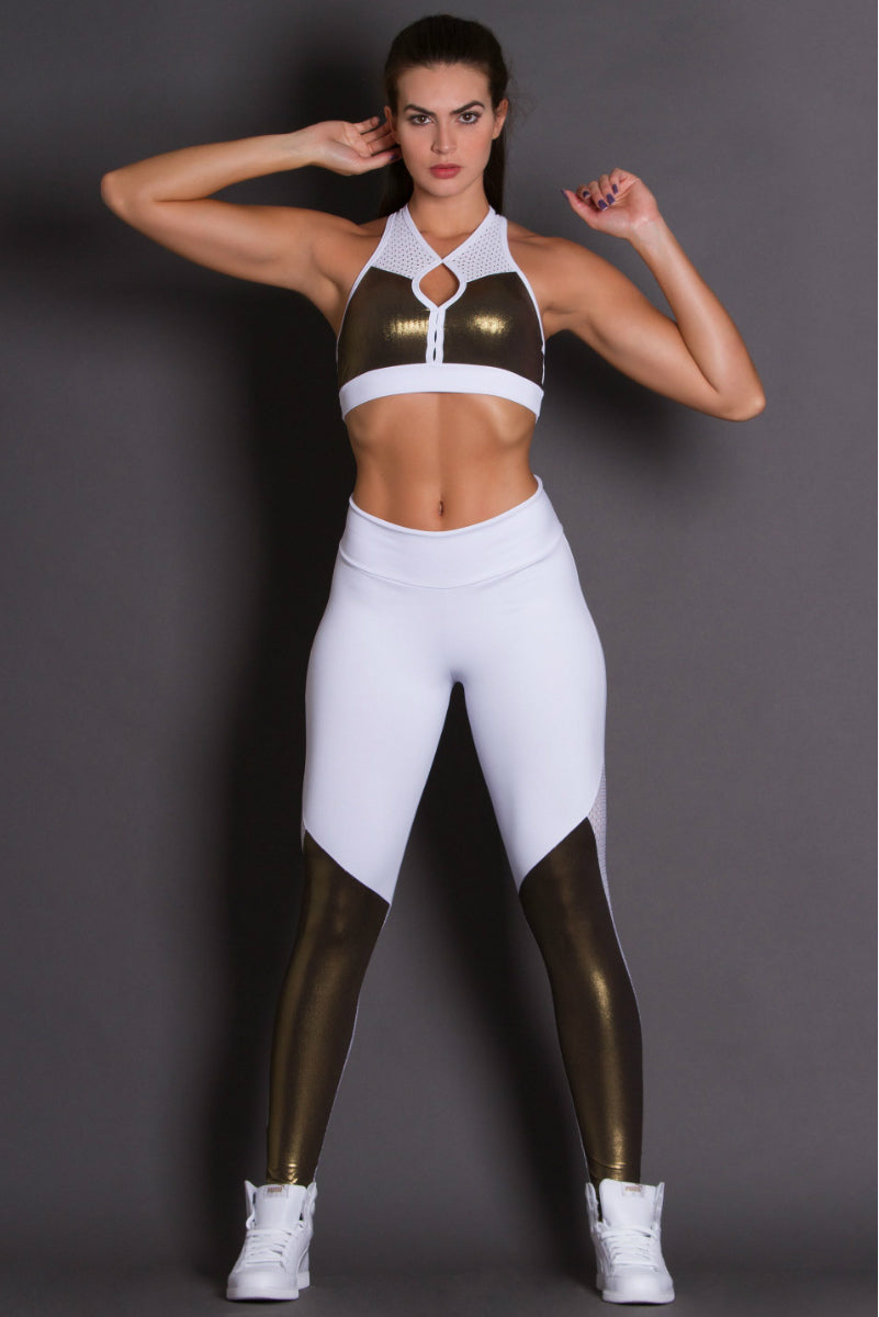 GOLD REVOLUTION WHITE LEGGING