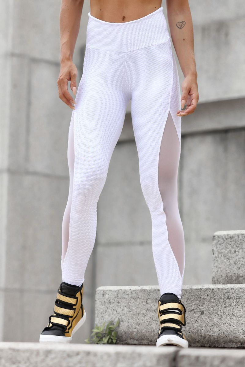 Sculpt White Mesh Legging
