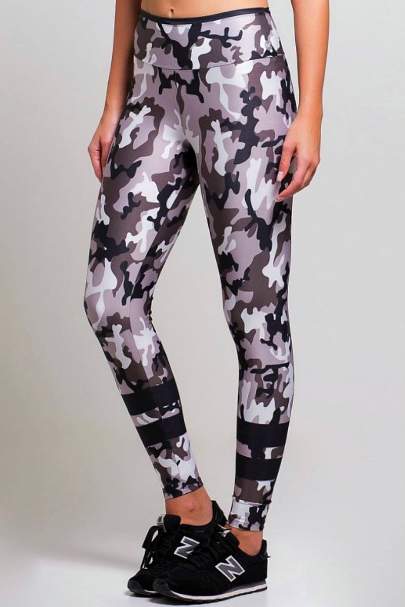 STRIPED ARMY LEGGING