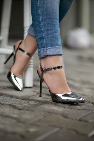 Silver Strap Pointy Toe