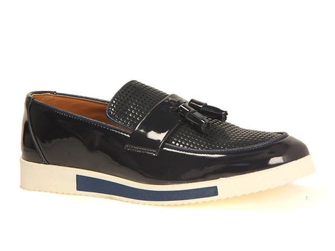 Aria Diamond Patent Navy