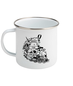 Travel far and wide - Enamel Mug, Suggested Products, Pen and Ink Studios Adventure Clothing
