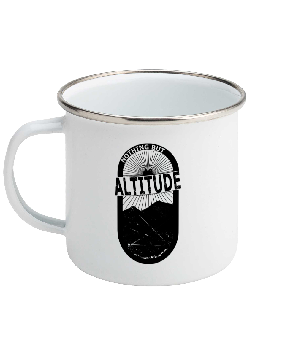 Nothing But Altitude - Enamel Mug, Suggested Products, Pen and Ink Studios Adventure Clothing