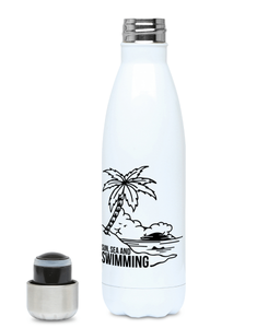 Sun, Sea And Swimming - Plastic Free 500ml Water Bottle, Suggested Products, Pen and Ink Studios Adventure Clothing