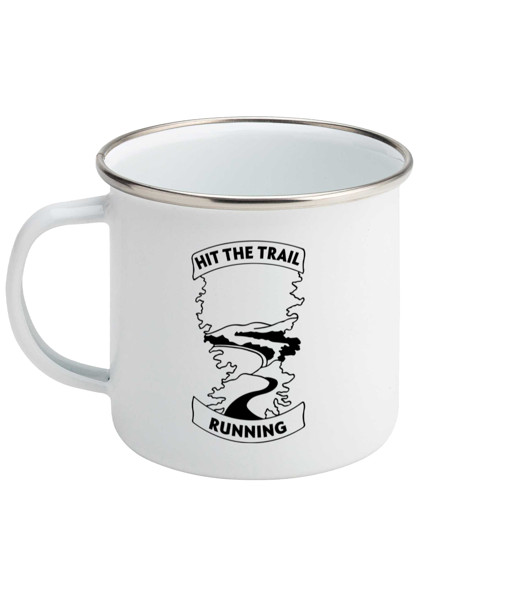 Hit The Trail Running - Enamel Mug, Suggested Products, Pen and Ink Studios Adventure Clothing