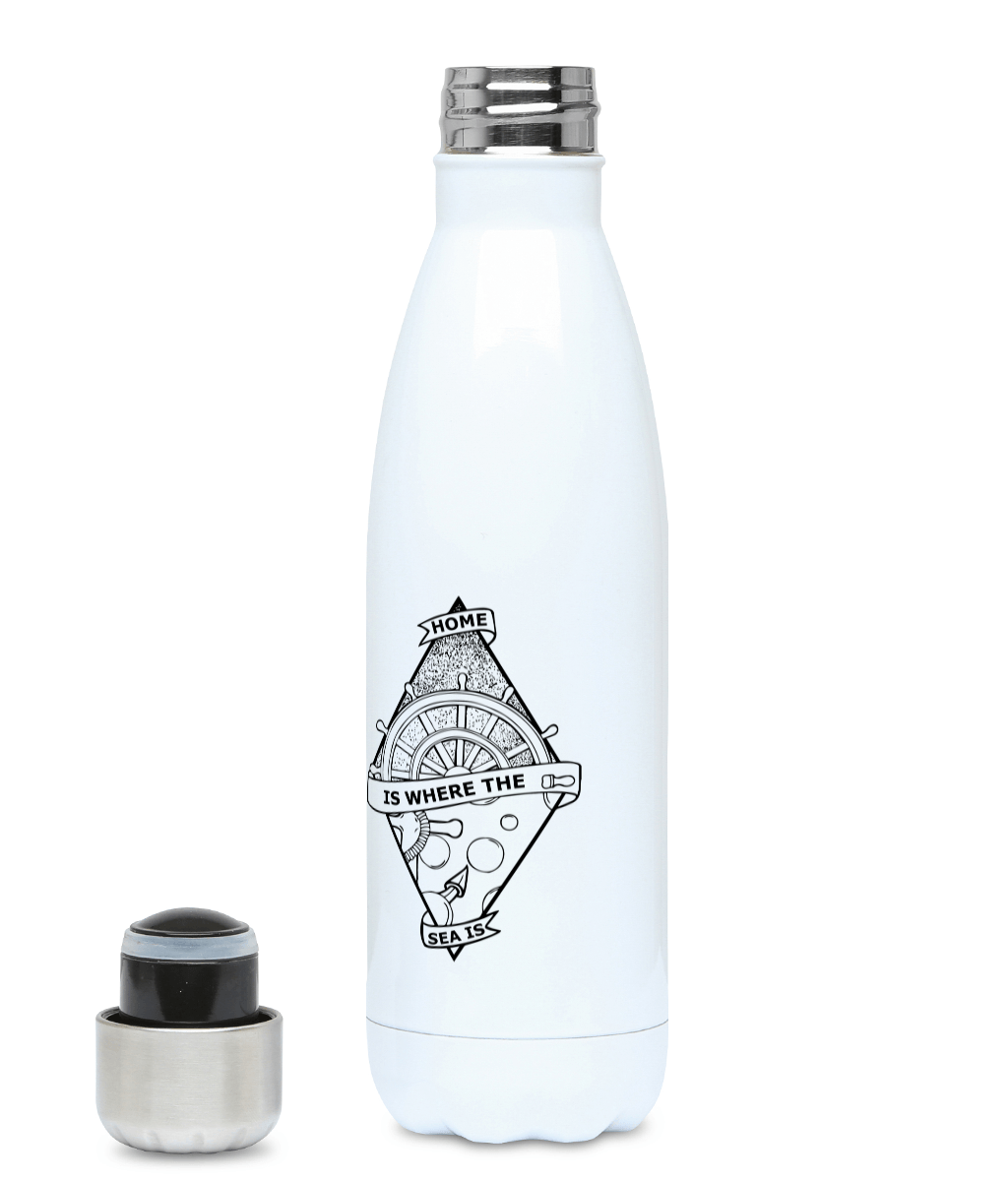 Home Is Where The Sea Is - Plastic Free 500ml Water Bottle - Pen and Ink Studios