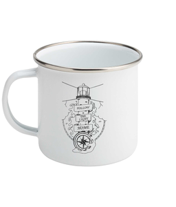 Follow The Light Home - Enamel Mug, Suggested Products, Pen and Ink Studios Adventure Clothing