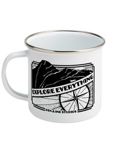 Explore Everything - Enamel Mug, Suggested Products, Pen and Ink Studios Adventure Clothing