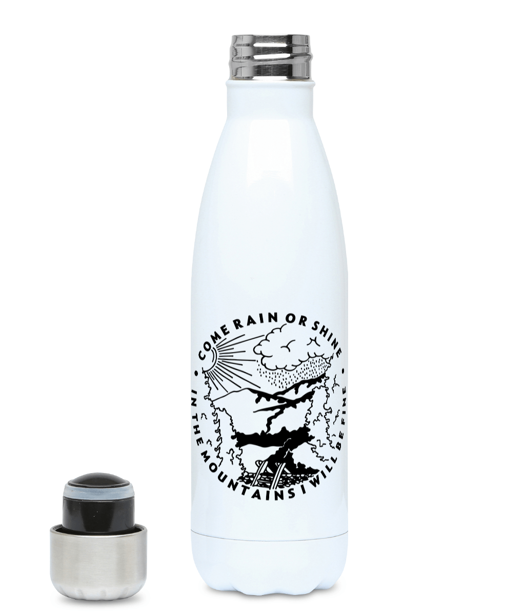 Come Rain Or Shine - Plastic Free 500ml Water Bottle, Suggested Products, Pen and Ink Studios Adventure Clothing