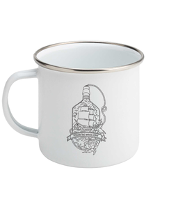Follow The Waves Home - Enamel Mug, Suggested Products, Pen and Ink Studios Adventure Clothing