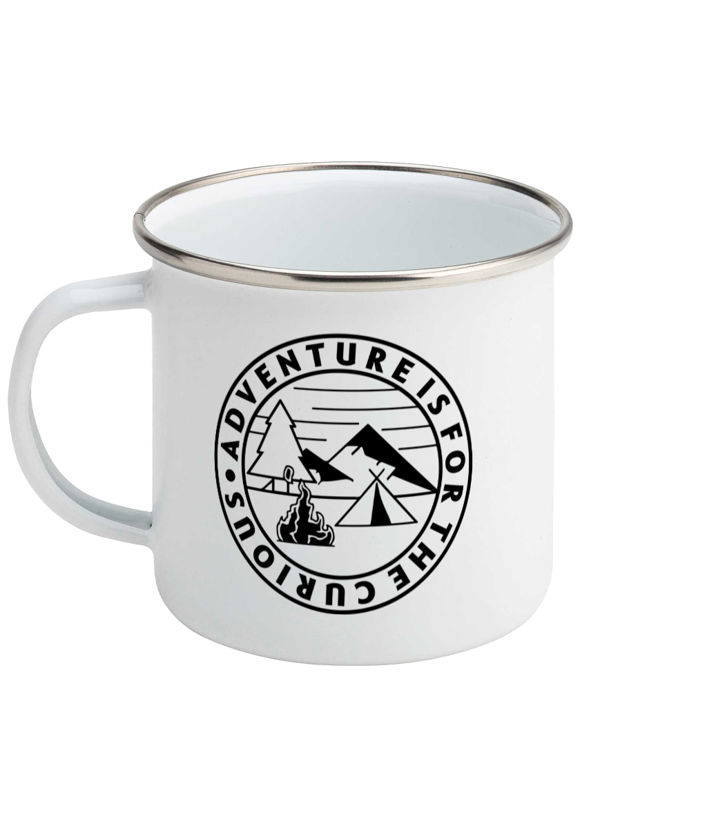 Adventure is for the curious - Enamel Mug, Suggested Products, Pen and Ink Studios Adventure Clothing