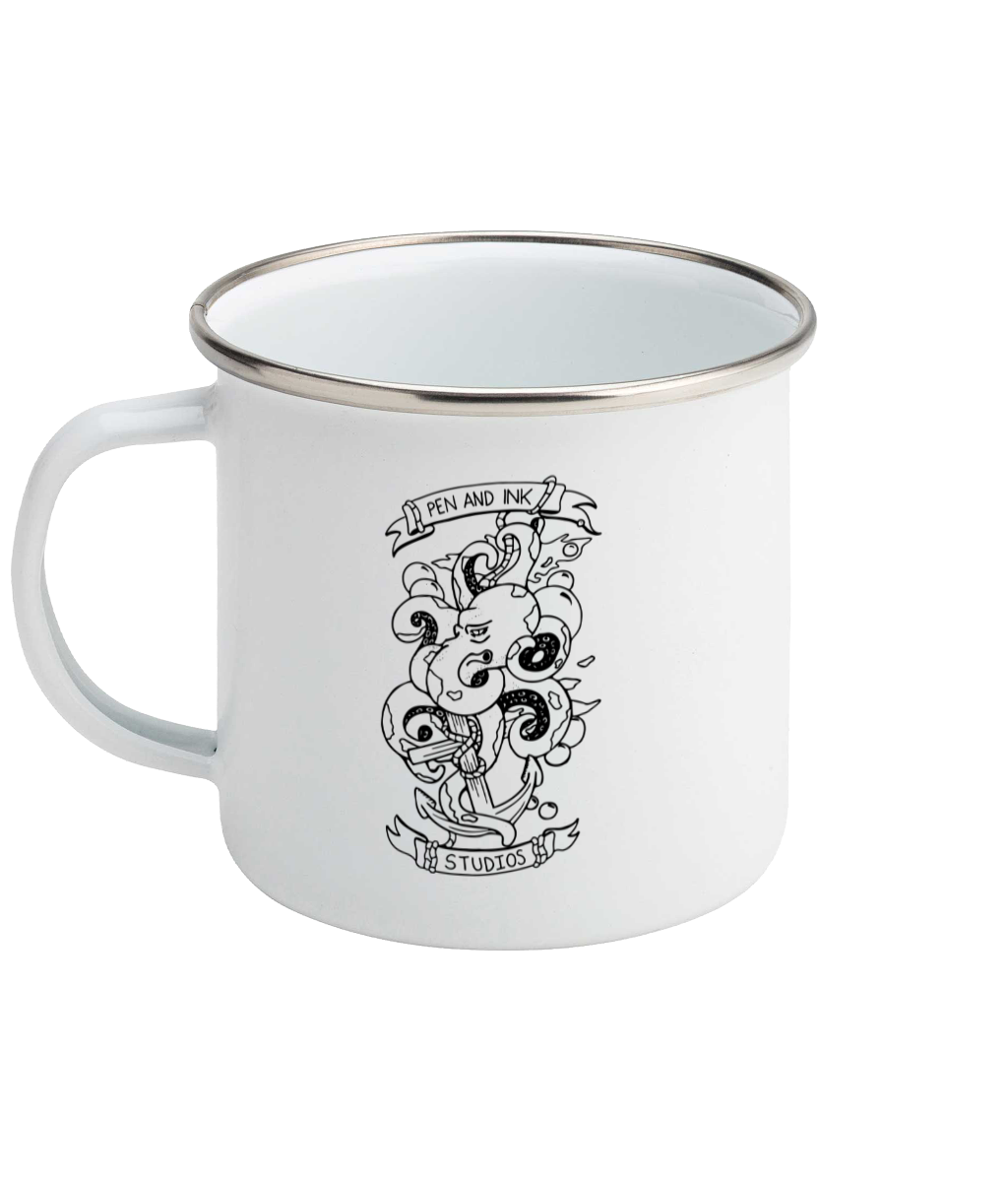 Pen and Ink Studios Brand, All At Sea - Enamel Mug