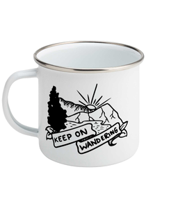 Keep On Wandering - Enamel Mug, Suggested Products, Pen and Ink Studios Adventure Clothing