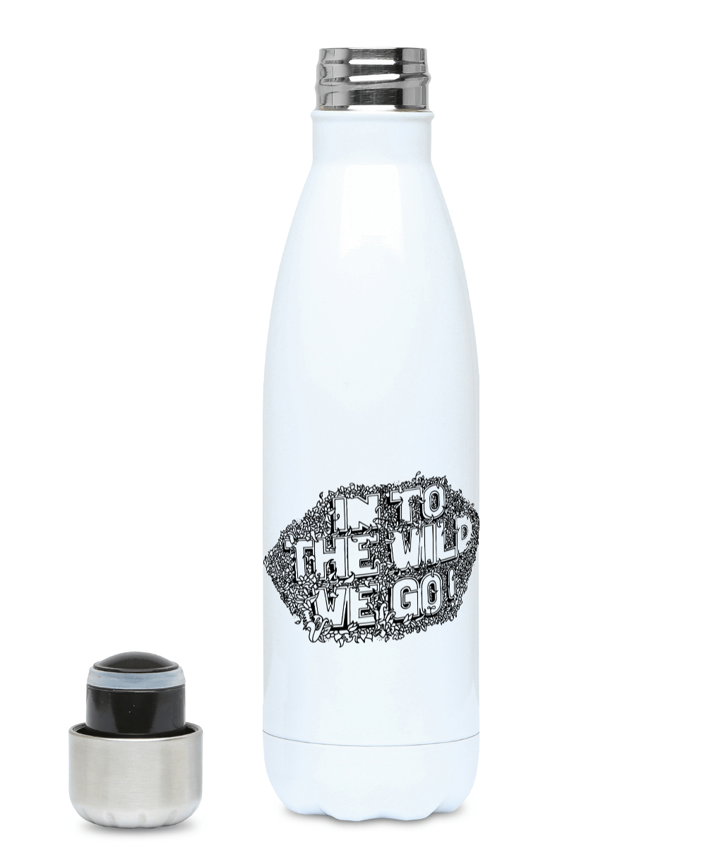 In To The Wild We Go - Plastic Free 500ml Water Bottle, Suggested Products, Pen and Ink Studios Adventure Clothing