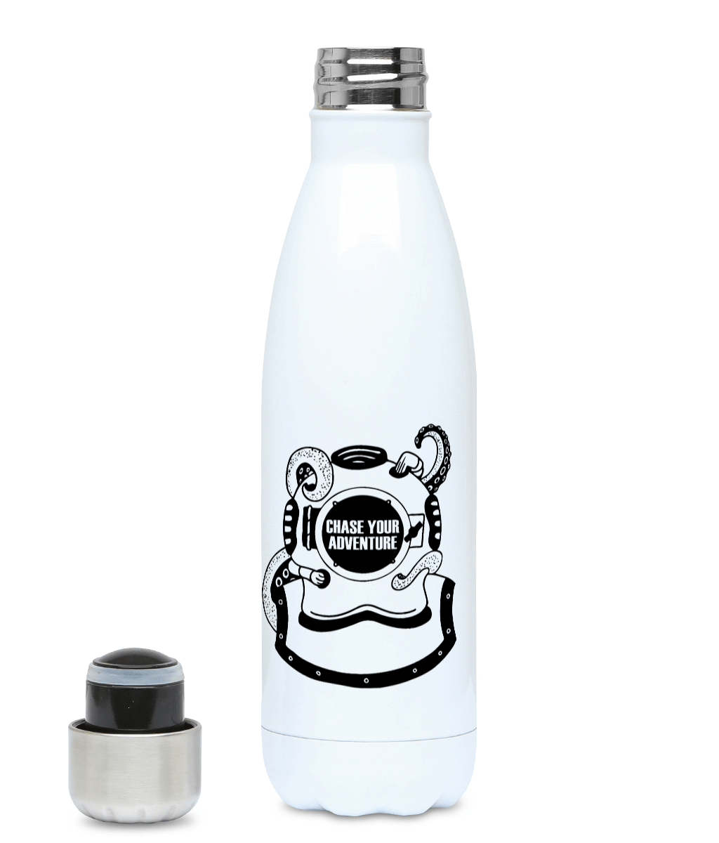 Chase Your Adventure - Diver - Plastic Free 500ml Water Bottle, Suggested Products, Pen and Ink Studios Adventure Clothing