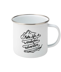 Make Life A Wonderful Adventure - Enamel Mug, Suggested Products, Pen and Ink Studios Adventure Clothing