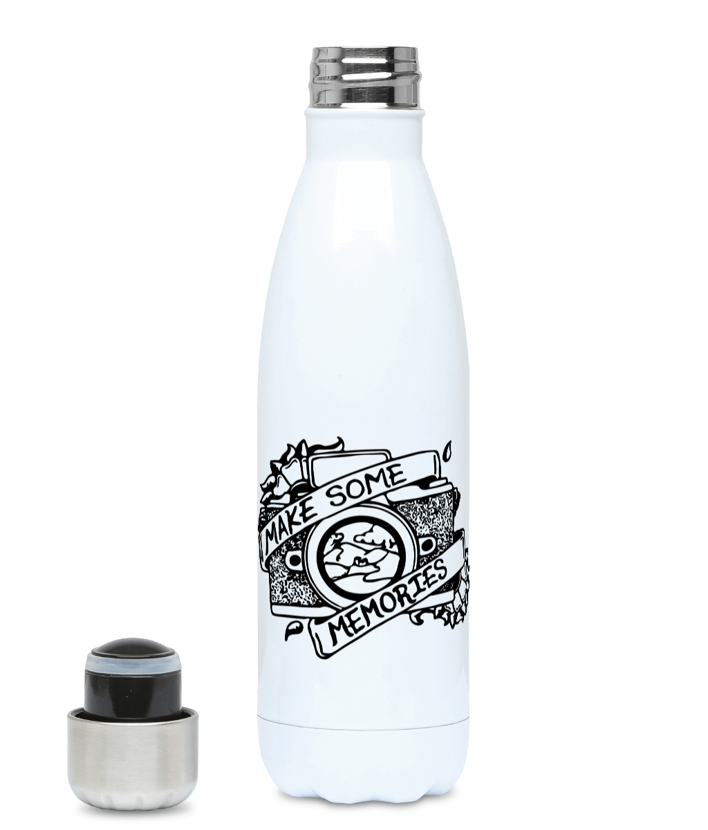 Make Some Memories - Plastic Free 500ml Water Bottle - Pen and Ink Studios