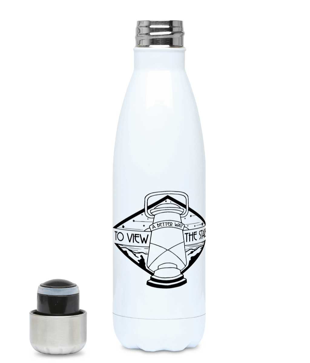A Better Way To View The Stars - Plastic Free 500ml Water Bottle, Suggested Products, Pen and Ink Studios Adventure Clothing