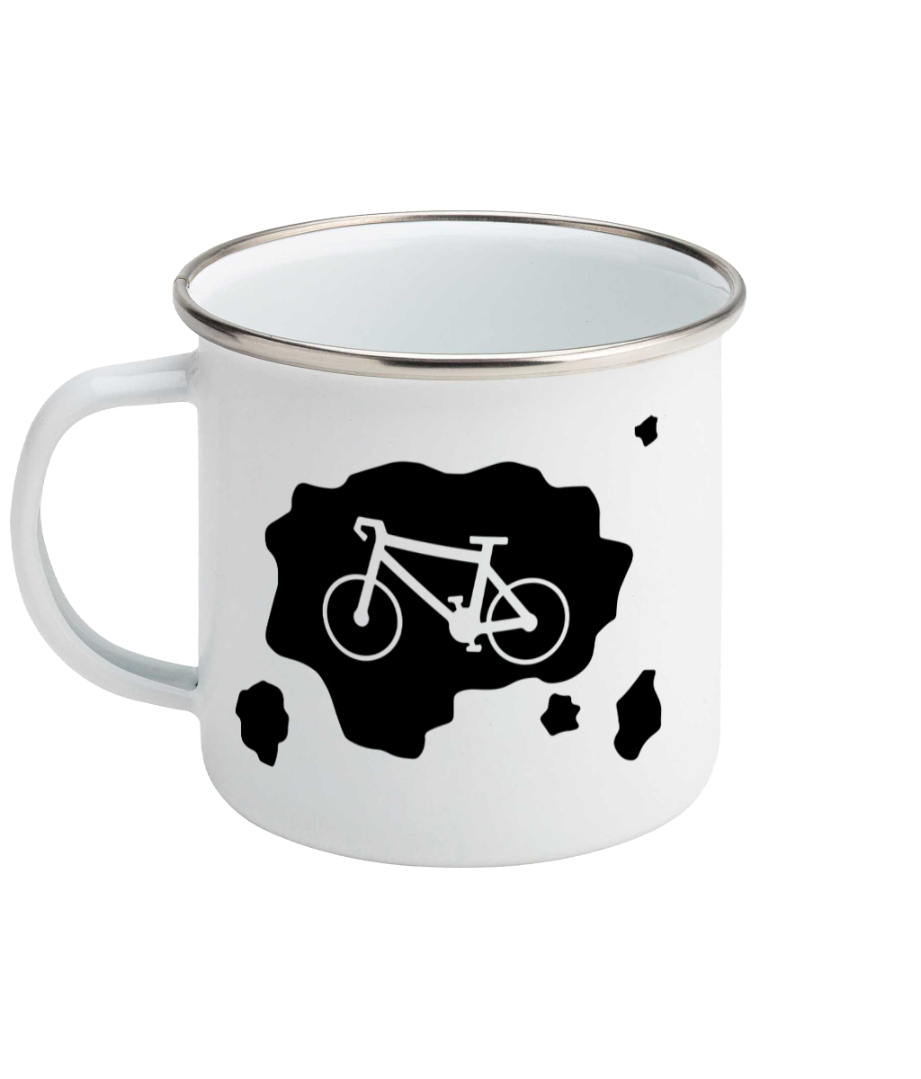 Mud Cycle - Enamel Mug, Suggested Products, Pen and Ink Studios Adventure Clothing