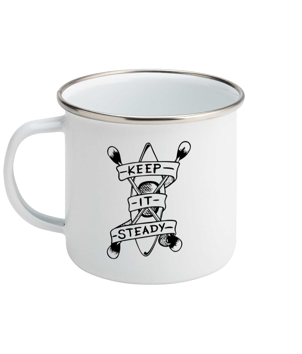 Keep It Steady - Enamel Mug, Suggested Products, Pen and Ink Studios Adventure Clothing