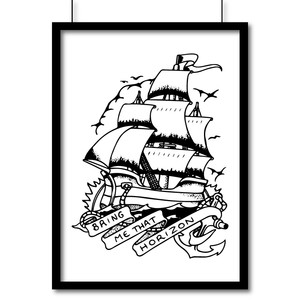 Portrait Matte Art Print - Bring Me That Horizon - Print, Wall Art, Pen and Ink Studios Adventure Clothing
