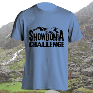 The Snowdonia Challenge T-shirt - Mens, Ladies, Available in 8 different colours, walking, exploring, adventure, T-Shirt, Pen and Ink Studios Adventure Clothing