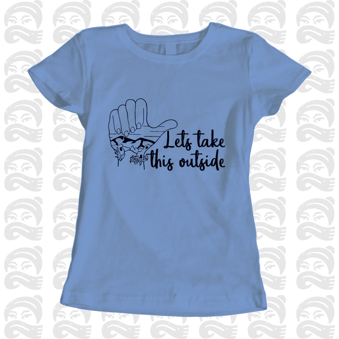 Adventure Queen - Let's Take This Outside - Adult, Mens, Womens, Tshirt, adventure, explore - Pen and Ink Studios