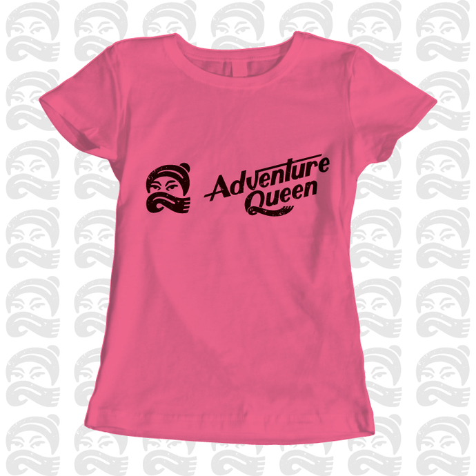 Adventure Queen - Adult, Mens, Womens, Tshirt, adventure, explore, T-Shirt, Pen and Ink Studios - Pen and Ink Studios